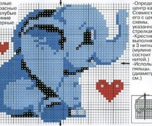 grille gratuite point de croix elephant