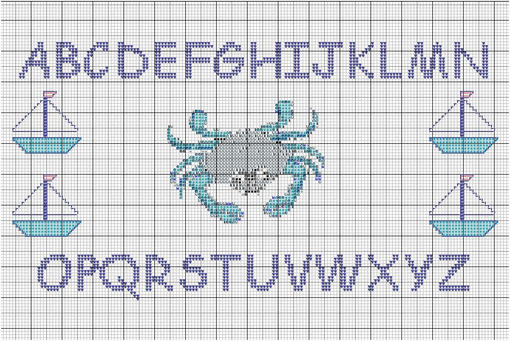 Grille lettre m point de croix 10 - Point de croix grille gratuite a imprimer ...