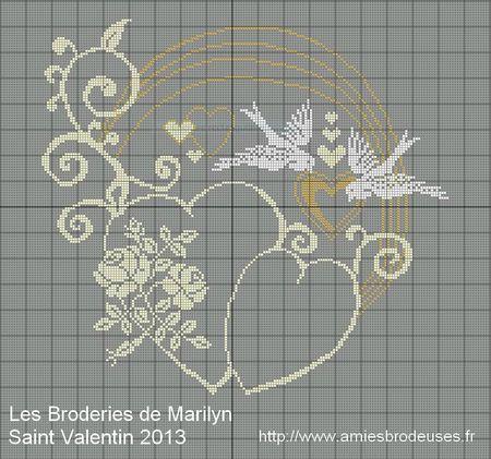 grille point de croix coussin alliance #3