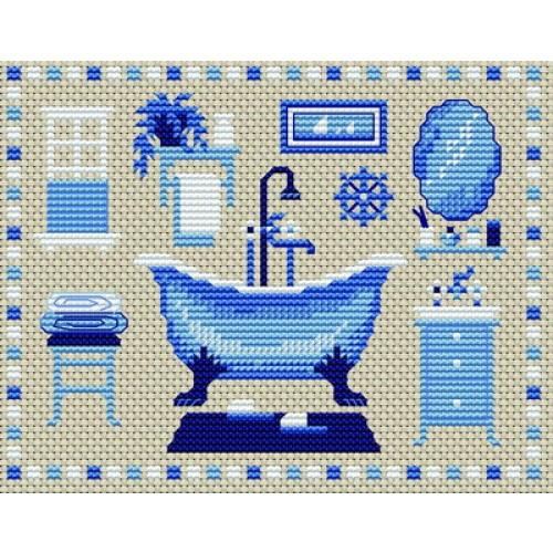 Grille point de croix salle de bain gratuite 7 for Dessin de salle de bain gratuit