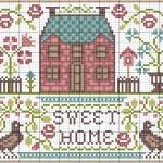 modèle point de croix home sweet home