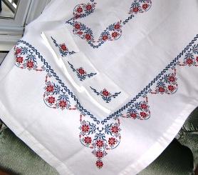 modèle point de croix nappe #2