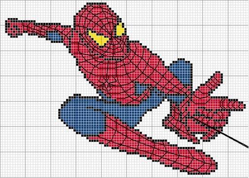 modèle point de croix spiderman #16