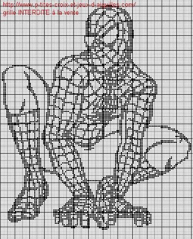 modèle point de croix spiderman