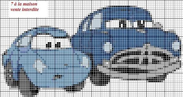 Point de croix cars 2 gratuit 17 - Dessin anime cars 2 gratuit ...