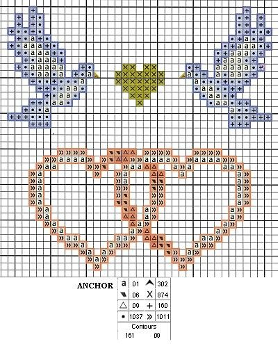 Point de croix grilles gratuites a imprimer mariage 1 - Point de croix grilles gratuites ...