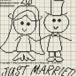 point de croix grilles gratuites a imprimer mariage