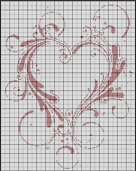 Point de croix grilles gratuites a imprimer mariage 17 - Grille de broderie gratuite a imprimer ...