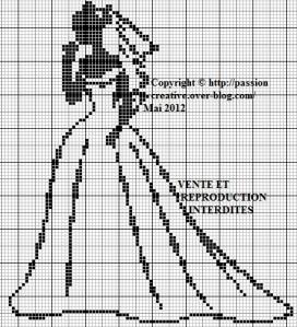 Point de croix grilles gratuites a imprimer mariage 7 - Grille de point de croix gratuite a imprimer ...