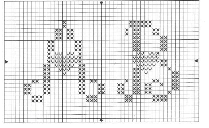 Grille abecedaire point de croix a imprimer 17 - Grille abecedaire point de croix gratuit ...