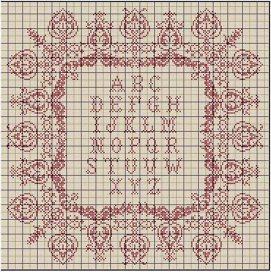 grille abecedaire point de croix a imprimer #6