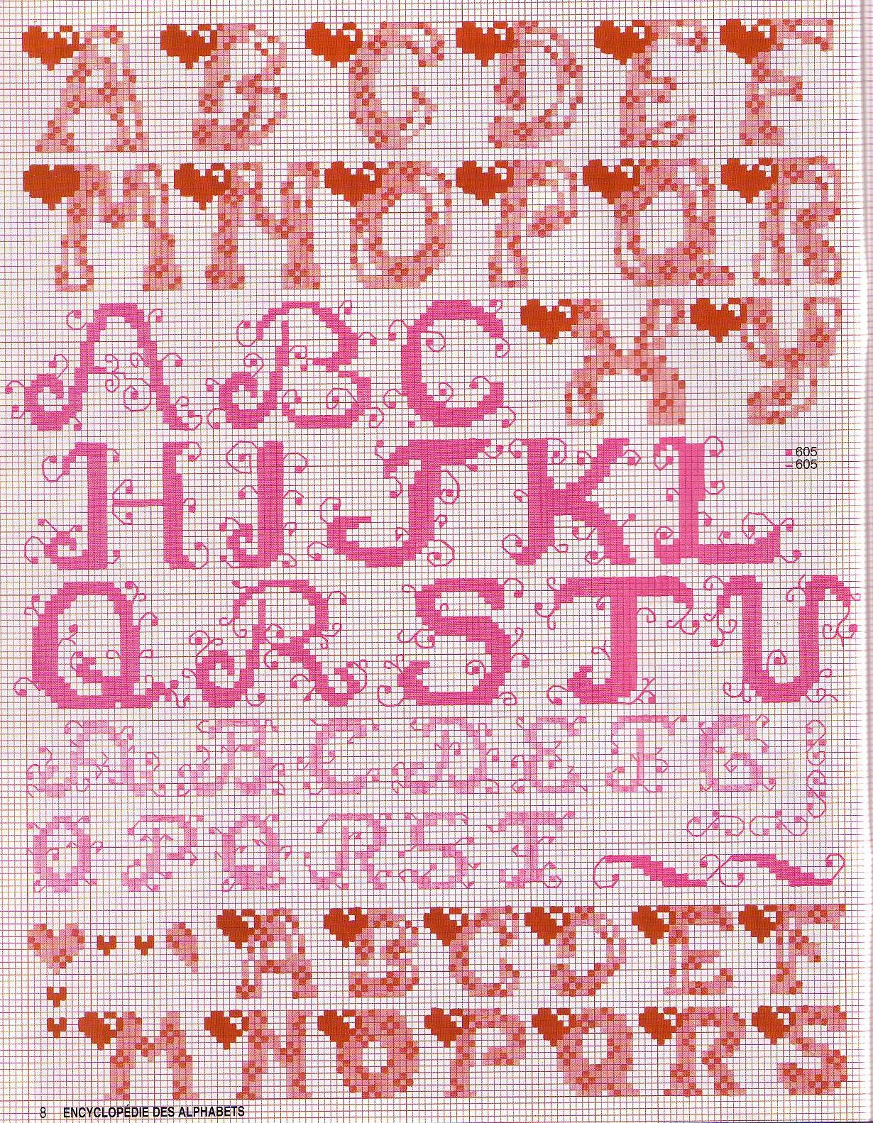 grille alphabet au point de croix