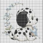 grille point de croix animaux