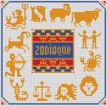grille point de croix chevalier du zodiaque