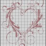 grille point de croix gratuite coeur
