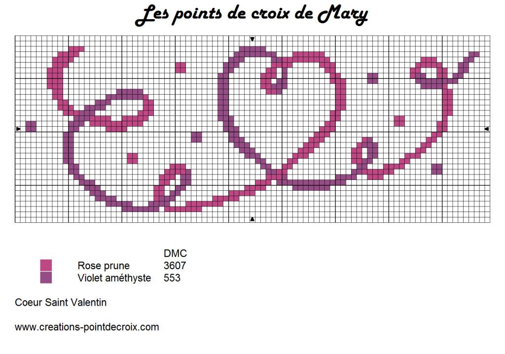 Grille point de croix gratuite coeur 8 - Grille point croix gratuite ...