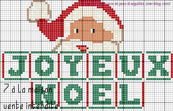 grille point de croix joyeux noel #12