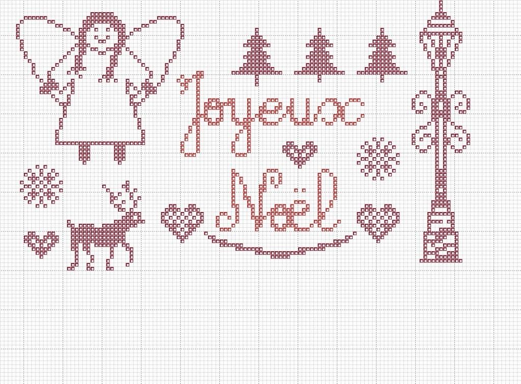 grille point de croix joyeux noel #14