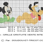 grille point de croix mickey gratuite