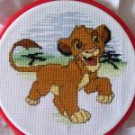 modèle point de croix lion