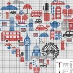 modèle point de croix london