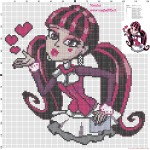 modèle point de croix monster high
