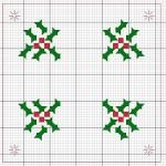 modèle point de croix noel
