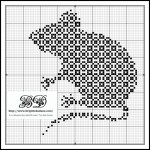 modèle point de croix souris