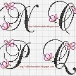 grille point de croix alphabet disney