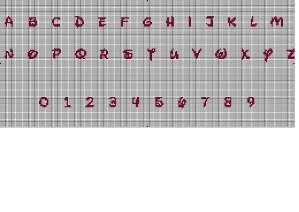 Grille Point De Croix Alphabet Disney 15