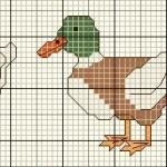 grille point de croix canard