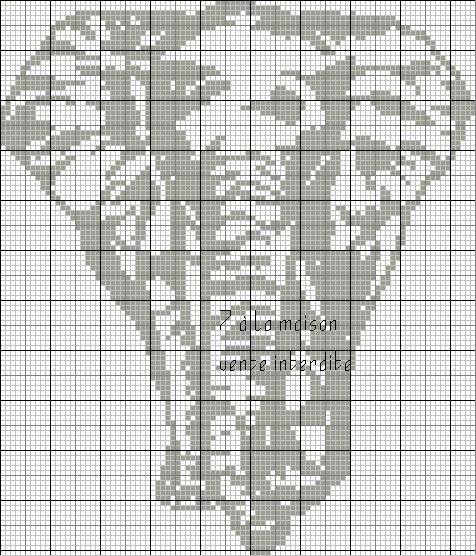 grille point de croix elephant gratuit  6
