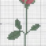 grille point de croix gratuite marque page