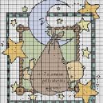 grille point de croix gratuite naissance