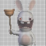 grille point de croix lapin