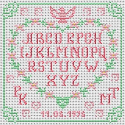 Grille point de croix lettre 13 - Grille point de croix lettre ...