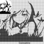 grille point de croix manga
