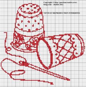 grille point de croix theme couture #6