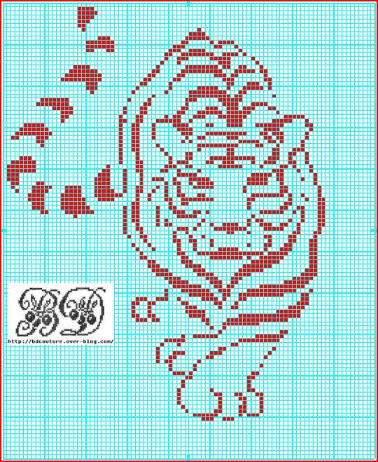 grille point de croix tigre gratuit