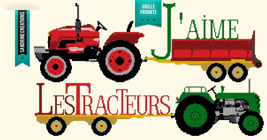 Grille point de croix tracteur 8 - Jeu de tracteur agricole gratuit ...