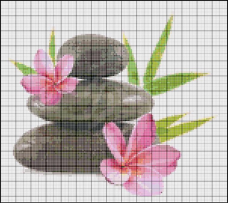 Grille point de croix zen gratuite 1 - Point de croix grille gratuite a imprimer ...