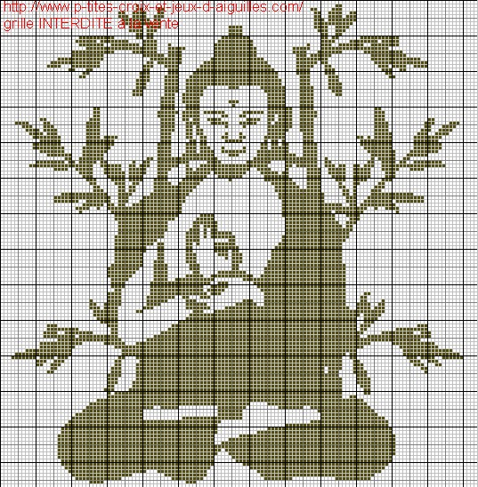 Grille point de croix zen gratuite 2 - Grille point croix gratuite ...