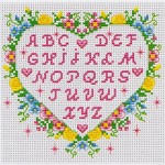 modèle point de croix abecedaire
