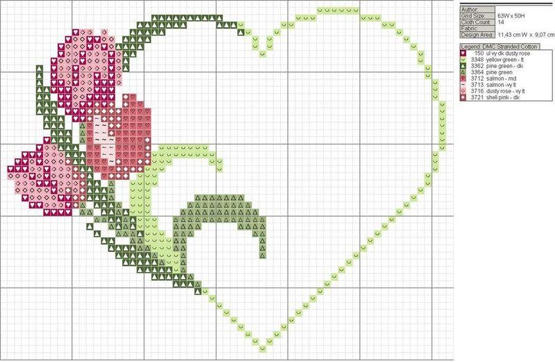 Mod le point de croix gratuit mariage 12 - Point de croix mariage grilles gratuites ...