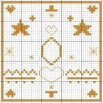 grille gratuite point de croix etoile