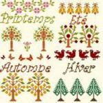 grille gratuite point de croix les 4 saisons