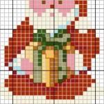 grille gratuite point de croix pere noel