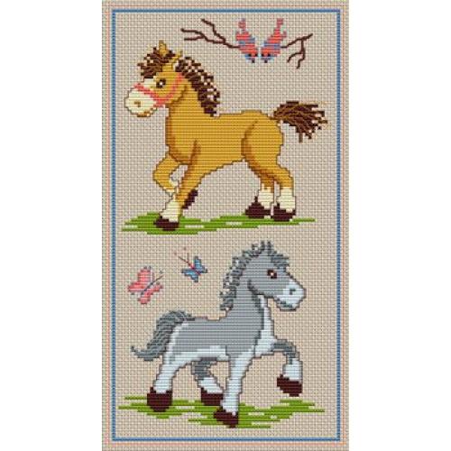 grille point de croix a imprimer cheval #9