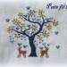 grille point de croix arbre