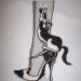 grille point de croix chaussures